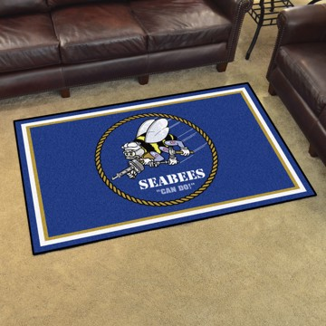 Picture of U.S. Navy - Seabees 4'x6' Plush Rug