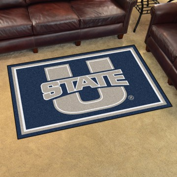 Picture of Utah State 4'x6' Plush Rug