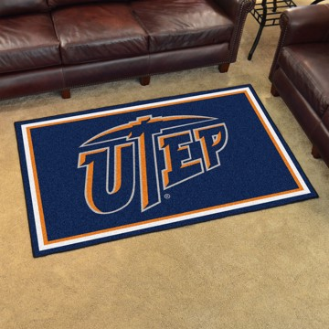 Picture of UTEP 4'x6' Plush Rug