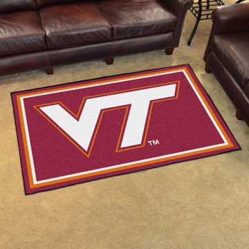 Picture of Virginia Tech 4'x6' Plush Rug