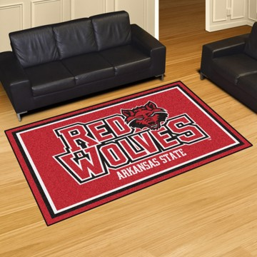 Picture of Arkansas State 5'x8' Plush Rug