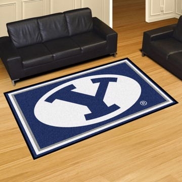Picture of Brigham Young 5'x8' Plush Rug
