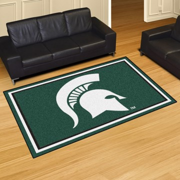 Picture of Michigan State 5'x8' Plush Rug