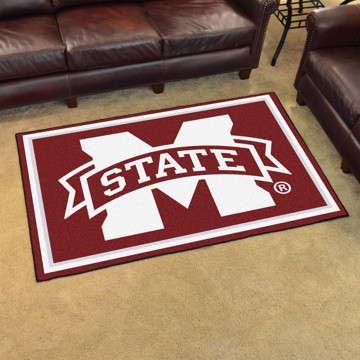 Picture of Mississippi State 5'x8' Plush Rug