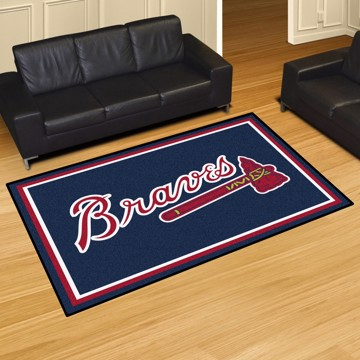 Picture of MLB - Atlanta Braves 5'x8' Plush Rug