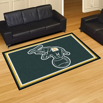 Picture of MLB - Oakland Athletics 5'x8' Plush Rug