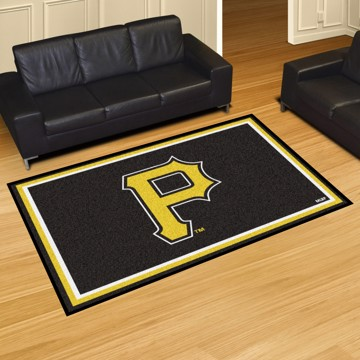 Picture of MLB - Pittsburgh Pirates 5'x8' Plush Rug