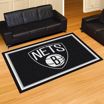 Picture of NBA - Brooklyn Nets 5'x8' Plush Rug