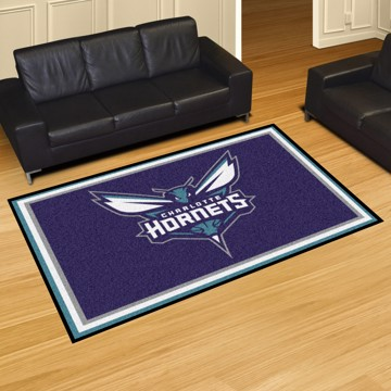 Picture of NBA - Charlotte Hornets 5'x8' Plush Rug