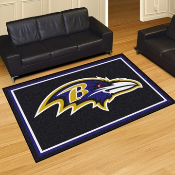 Picture of NFL - Baltimore Ravens 5'x8' Plush Rug