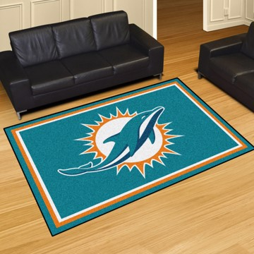 Picture of NFL - Miami Dolphins 5'x8' Plush Rug