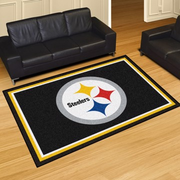 Picture of NFL - Pittsburgh Steelers 5'x8' Plush Rug
