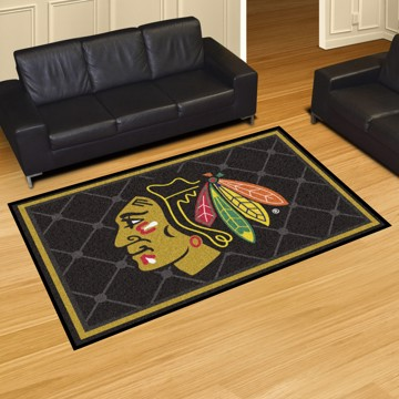 Picture of NHL - Chicago Blackhawks 5'x8' Plush Rug