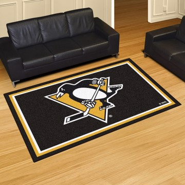 Picture of NHL - Pittsburgh Penguins 5'x8' Plush Rug