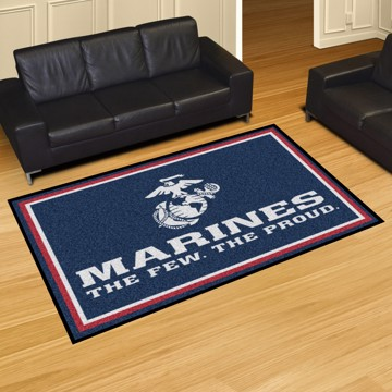 Picture of U.S. Marines 5'x8' Plush Rug