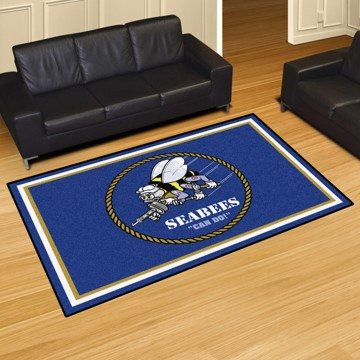 Picture of U.S. Navy - Seabees 5'x8' Plush Rug