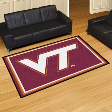 Picture of Virginia Tech 5'x8' Plush Rug