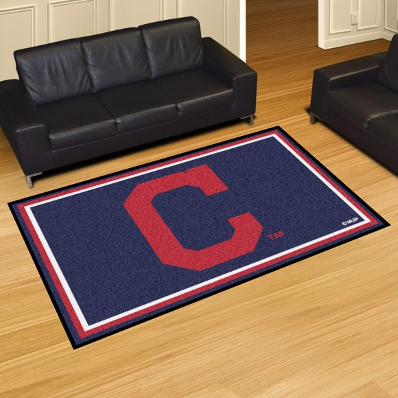 Picture of MLB - Cleveland Indians 8'x10' Plush Rug
