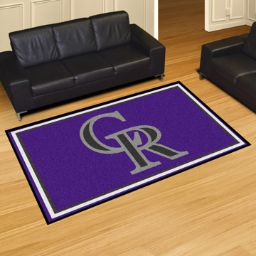Picture of MLB - Colorado Rockies 8'x10' Plush Rug