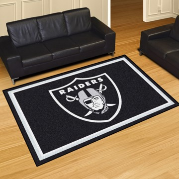 Picture of NFL - Oakland Raiders 8'x10' Plush Rug