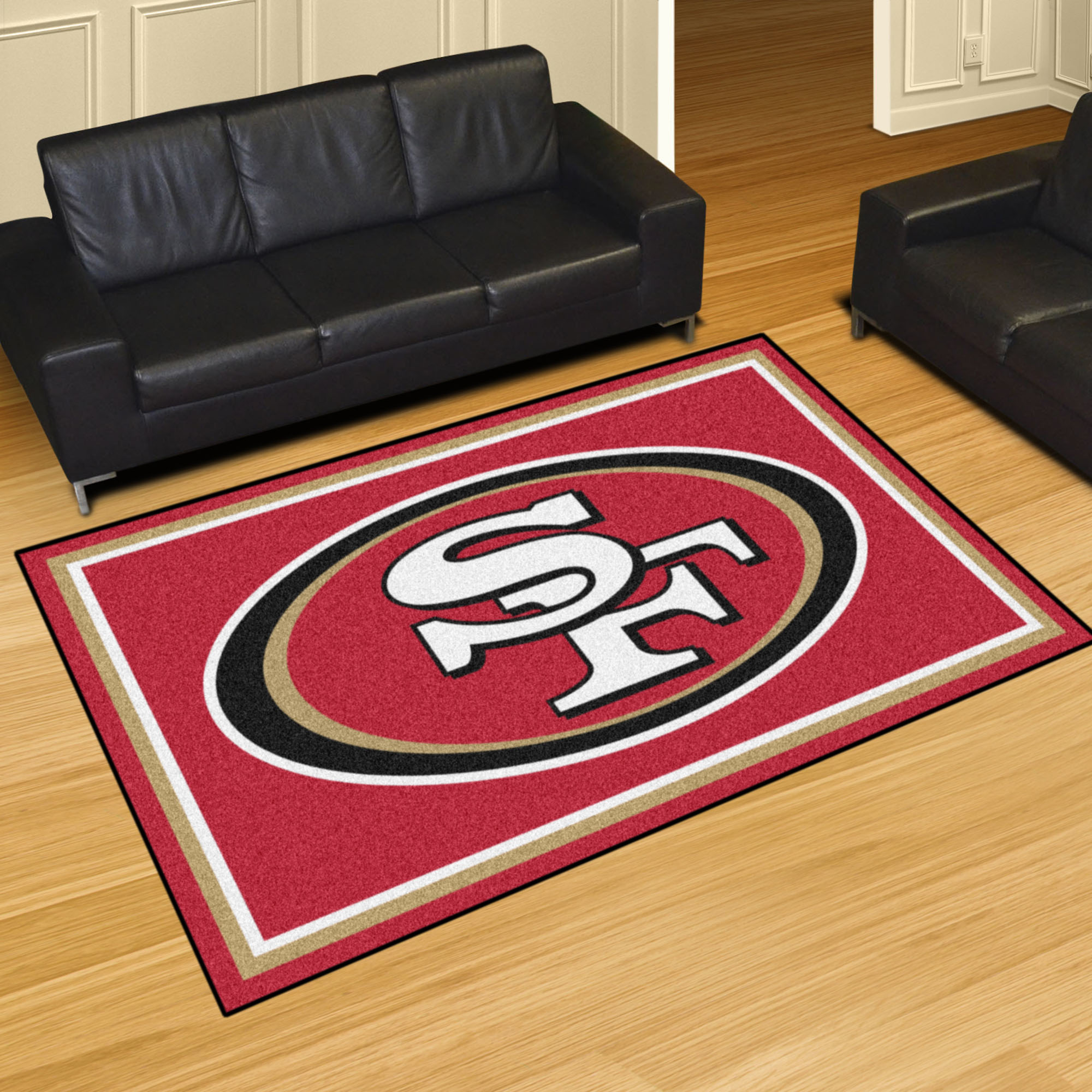 Nfl San Francisco 49ers 8 X10 Plush Rug Fanmats Sports Licensing Solutions Llc