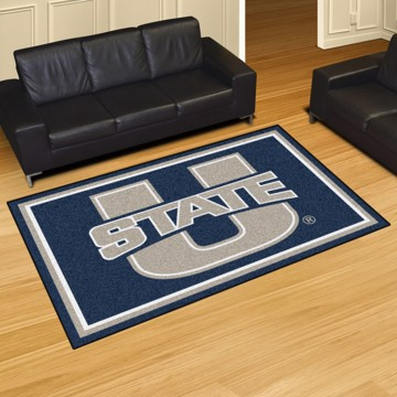 Picture of Utah State 8'x10' Plush Rug