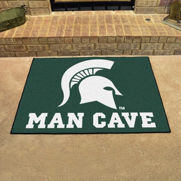 """Friends and Family Wood Sign Fan Creations Michigan State Spartans 12/""""x 6/"""" All I Need is Football"""