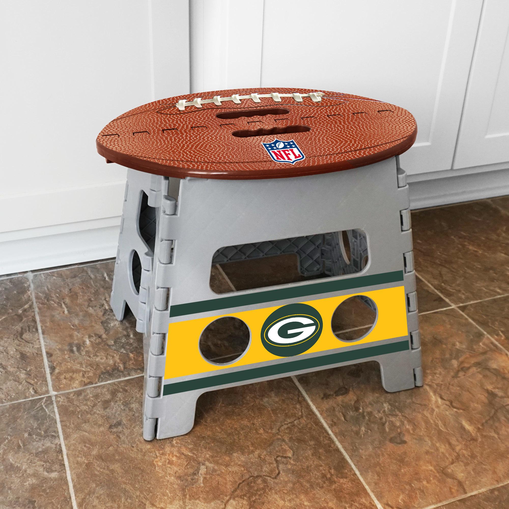 Strange Nfl Green Bay Packers Folding Step Stool Evergreenethics Interior Chair Design Evergreenethicsorg