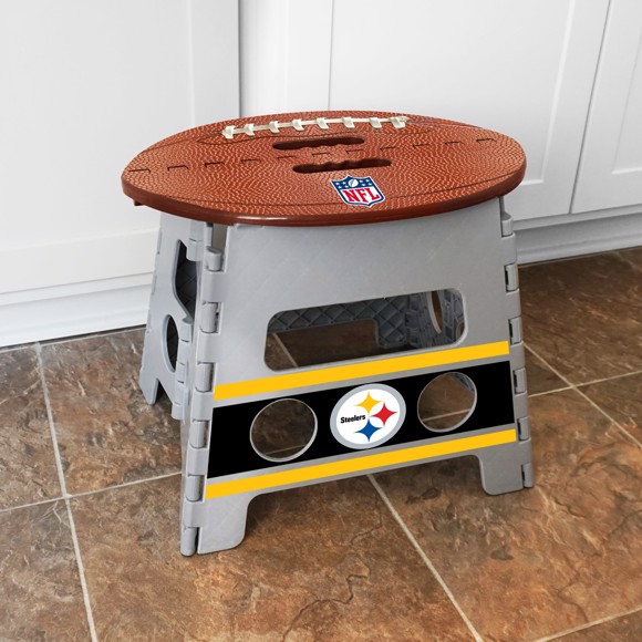 Fabulous Nfl Pittsburgh Steelers Folding Step Stool Inzonedesignstudio Interior Chair Design Inzonedesignstudiocom