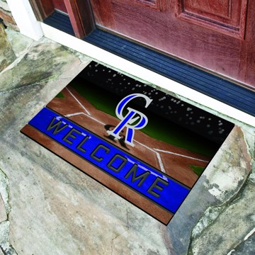 Picture of MLB - Colorado Rockies Crumb Rubber Door Mat