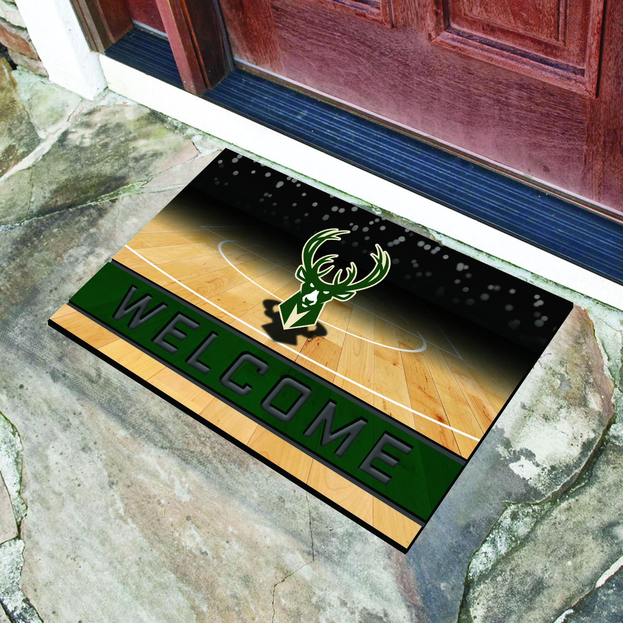 Bucks fan Doormat Milwaukee Bucks Doormat Basketball Doormat Bucks Doormat