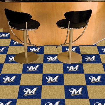 Picture of MLB - Milwaukee Brewers Team Carpet Tiles