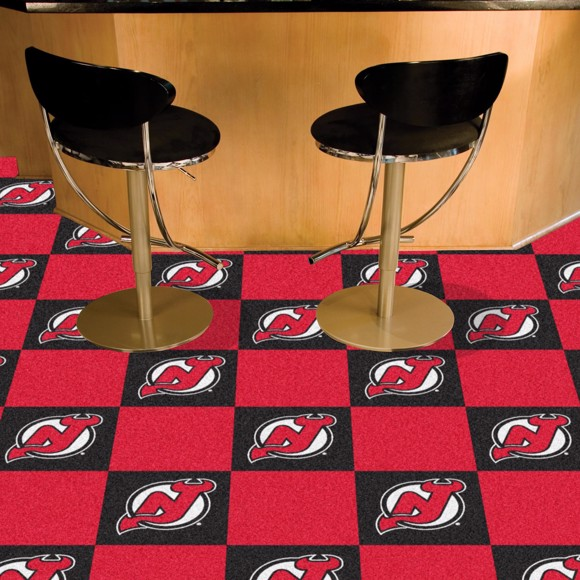 Picture of NHL - New Jersey Devils Team Carpet Tiles