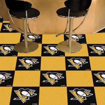 Picture of NHL - Pittsburgh Penguins Team Carpet Tiles