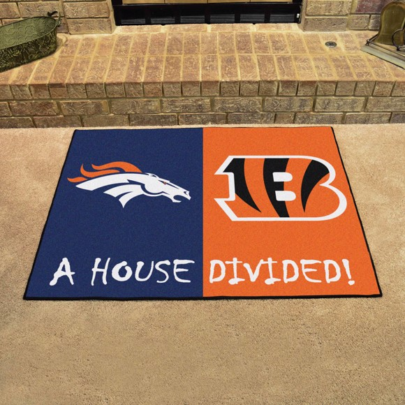 7690b108 NFL House Divided - Broncos / Bengals
