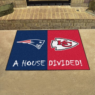 Picture of NFL House Divided - Patriots / Chiefs