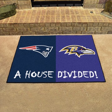 Picture of NFL House Divided - Patriots / Ravens