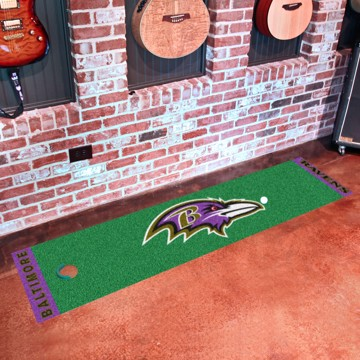 Picture of NFL - Baltimore Ravens Putting Green Mat