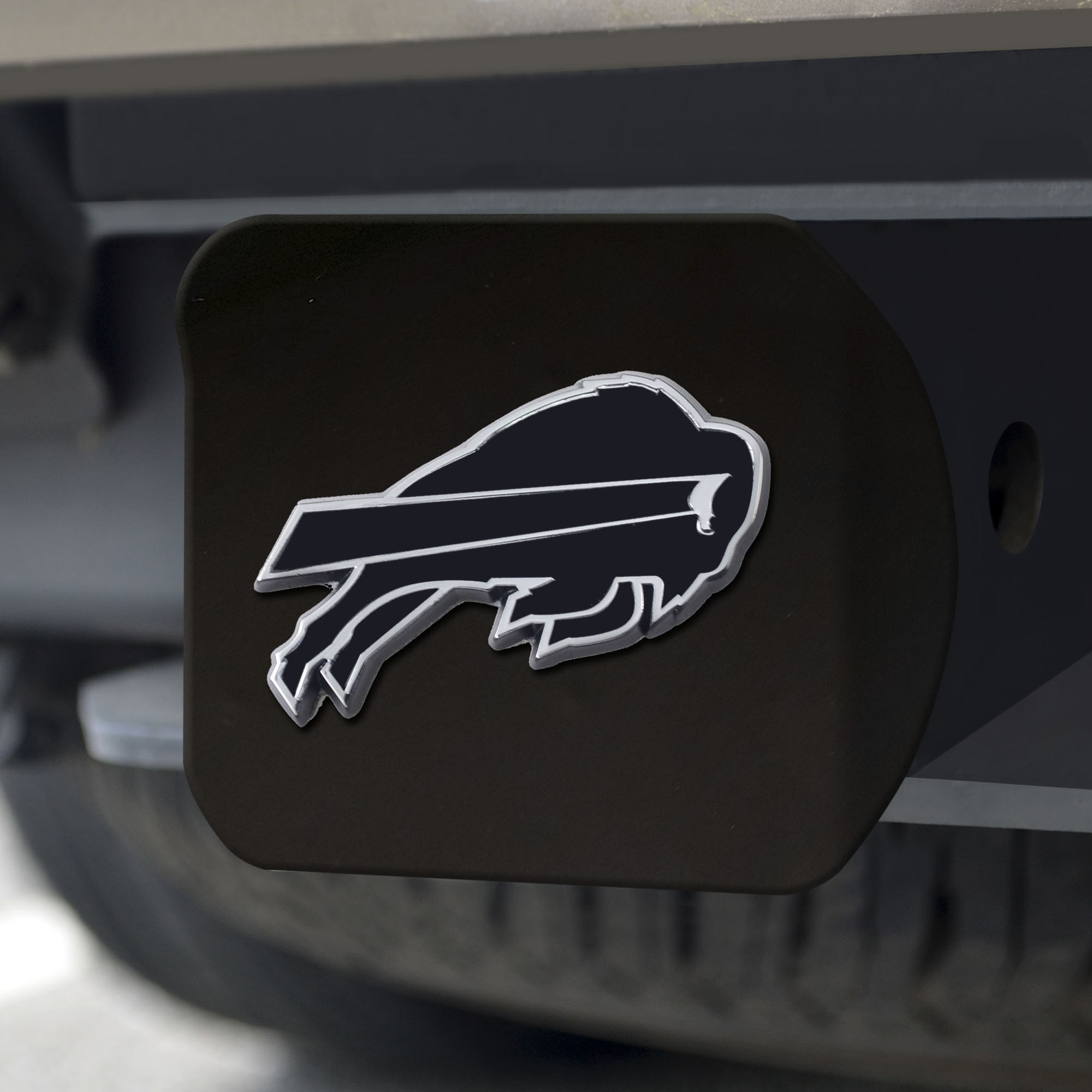 2 Square Type III Hitch Cover Chrome NFL Buffalo Bills Metal Hitch Cover