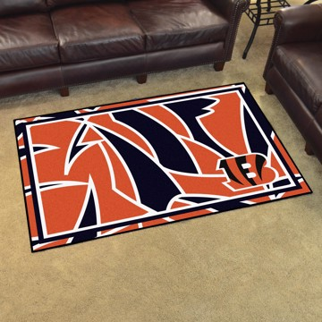 Picture of NFL - Cincinnati Bengals 4x6 Plush Rug