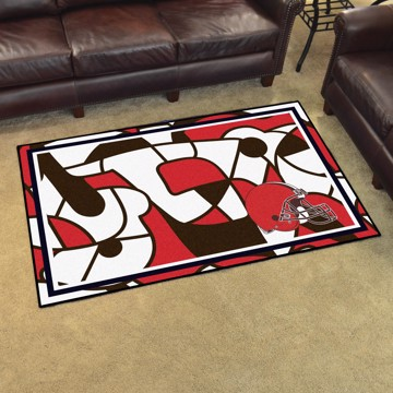 Picture of NFL - Cleveland Browns 4x6 Plush Rug