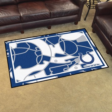 Picture of NFL - Indianapolis Colts 4x6 Plush Rug
