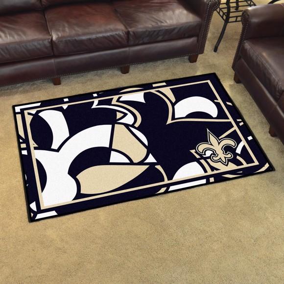 Nfl New Orleans Saints 4x6 Plush Rug