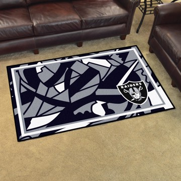 Picture of NFL - Oakland Raiders 4x6 Plush Rug