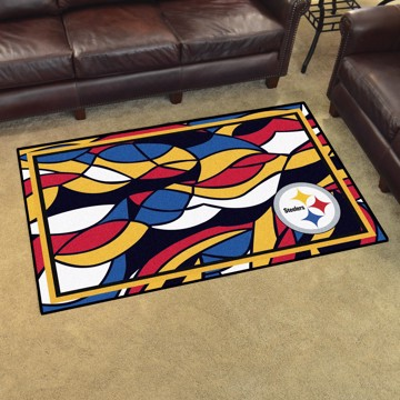 Picture of NFL - Pittsburgh Steelers 4x6 Plush Rug