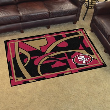 Picture of NFL - San Francisco 49ers 4x6 Plush Rug