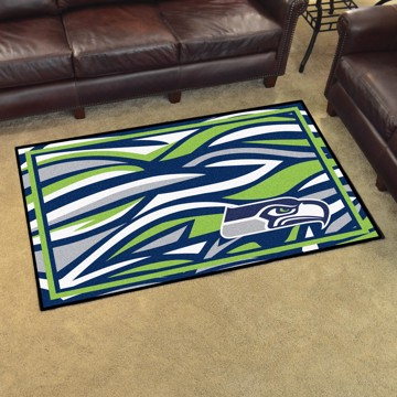 Picture of NFL - Seattle Seahawks 4x6 Plush Rug