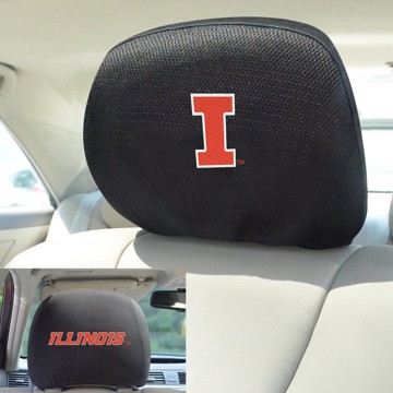 Picture of Illinois Headrest Cover Set