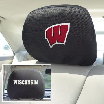 Picture of Wisconsin Headrest Cover Set