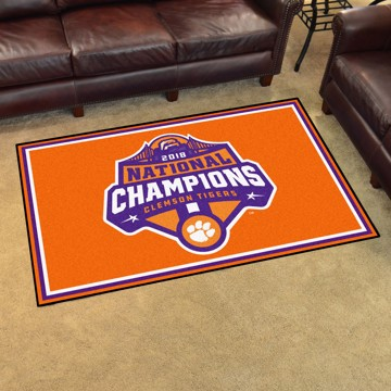 Picture of Clemson 2018-19 National Champions 5x8 Plush Rug